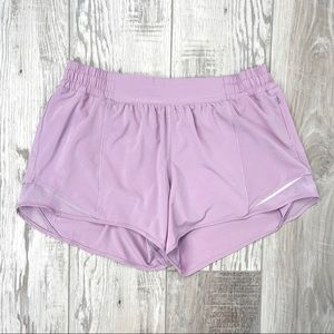 "Lululemon Hotty Hot Short II Long 4"" Lilac Quartz Light Purple RARE"